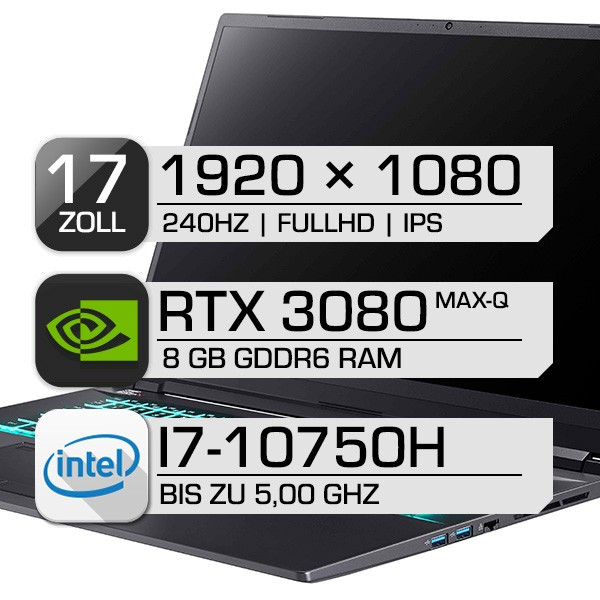Clevo PC70DS-D i7-10750H RTX3080 Max-Q